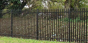 Black Steel Palisade Fencing