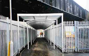 Steel Palisade Fencing with Roof